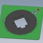CAD-Konstruktion Drehteller-Lötmaske